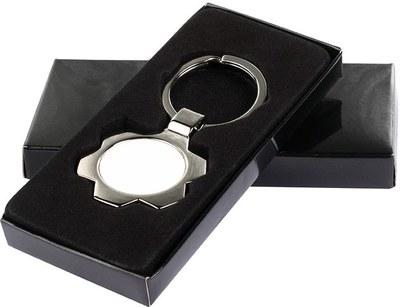 Saulutės formos raktų pakabukas su dėžute
