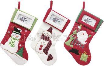 Kalėdinė dovanų kojinė su nuotrauka ~15x50cm