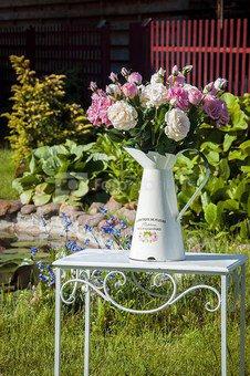 Dekoratyvinė gėlė Rožė kreminė (12) H: 59 cm. NA03008PT SAVEX
