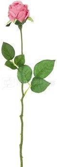 Dekoratyvinė gėlė Rožė rausva (12) h 47 cm SAVEX