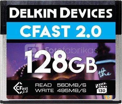 DELKIN CFAST CINEMA 2.0 R560/W495 128GB (VPG-130)