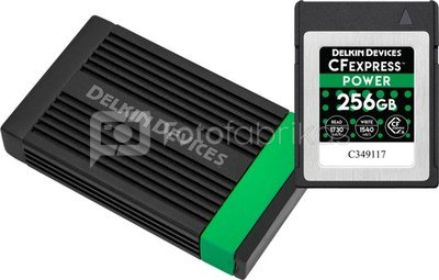 DELKIN CFEXPRESS POWER R1730/W1430 256GB + GET ONE DELKIN CFEXPRESS READER FREE OF CHARGE