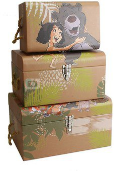 Dėžės 3 vnt. Disney Džiunglių knyga H:22 W:40 D:29 cm DI331