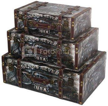 Dėžių rinkinys 3vnt.19x54x36,6cm, 16x46x30,5cm, 13x38x24,5cm 93375