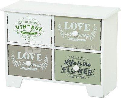 Dėžutė komoda dekoratyvinė MDF 27 x 20 x 11 cm 871125205181