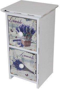 Dėžutė-komoda medinė 94064 Lavanda H:22,5 W:12,5 D:11 cm.