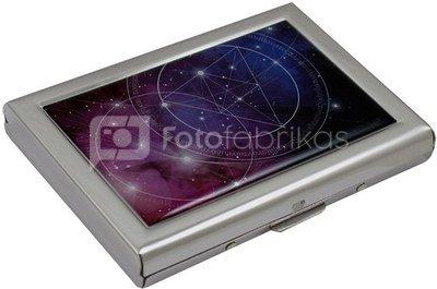 Dėžutė kortelėms su kosmoso piešiniu HK8 metalinė