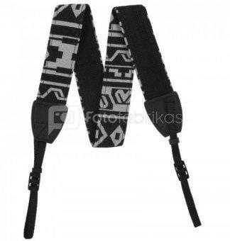 Dirželis fotoaparatui Camera Strap 80-120 cm Black/White