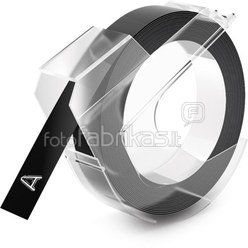 Dymo 3D Label Tape 9 mm x 3 m Plastic glossy black