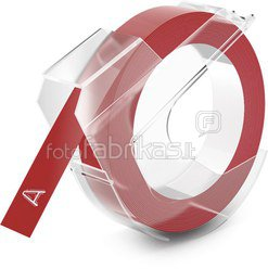 Dymo 3D Label Tape 9 mm x 3 m Plastic glossy red