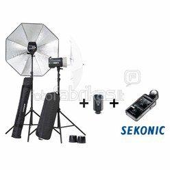 Elinchrom BRX 250/250 to go Umbrella incl. Sekonic L-478DR