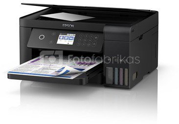 Epson All-in-One Ink Tank Printer L4160 Colour, Inkjet, Cartridge-free printing, A4, Wi-Fi, Black