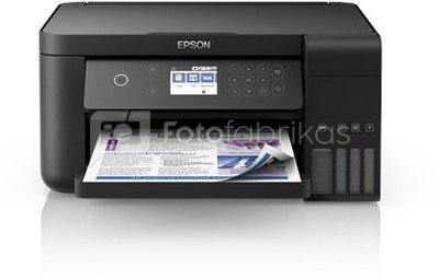 Epson All-in-One Ink Tank Printer L6160 Colour, Inkjet, Cartridge-free printing, A4, Wi-Fi, Black