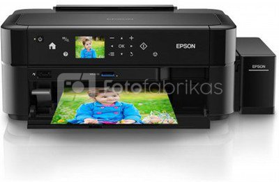 Epson L810 Inkjet Photo printer / 6 Ink Cartridges / 37ppm mono/ 38ppm color / USB / Paper tray 120 Sheets / Prints on CD / DVD