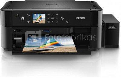Epson L850 Inkjet Photo printer / 6 Ink Cartridges / 37ppm mono/ 38ppm color / USB / Paper tray 120 Sheets / Prints on CD / DVD