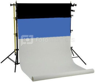 Falcon Eyes Background System SPK-3 with 3 Rolls Black/White/Blue 1.35x11 m Demo