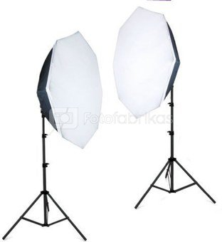 Falcon Eyes Product Photo- Set with 120x120x120 Photo Tent and Lighting 2200W