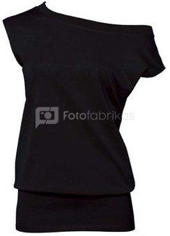 Moteriška tunika su Jūsų nuotrauka, užrašu, juoda