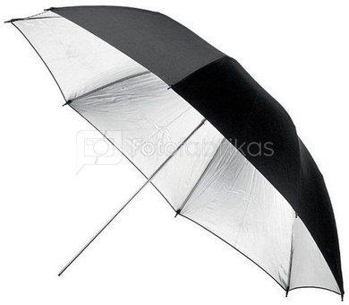 Fomei sidabrinės spalvos skėtis 85 cm