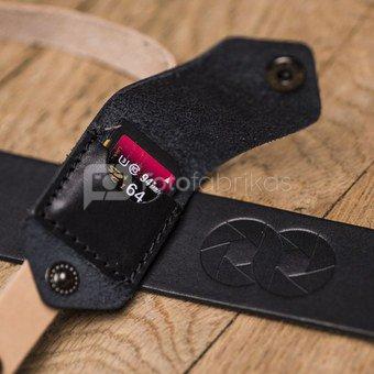 Fotoaparato dirželis Cooph Leather (juoda/ruda)