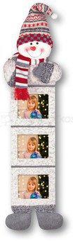Kalėdinis rėmelis fotometras 22x90cm (pilkas besmegenis) 3x nuotraukos 10x15
