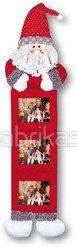 Kalėdinis rėmelis fotometras 22x90cm (raudonas Kalėdų senelis) 3x nuotraukos 10x15