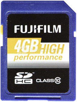 Fujifilm 4GB SDHC Card High Performance Class 10