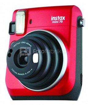 Fujifilm Instax Mini 70 (Raudonas) + 10 Fotoplokštelių