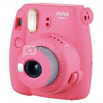 Fujifilm Instax Mini 9 (Rožinis) + 10 Fotoplokštelių