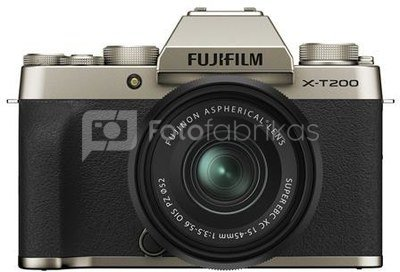Fujifilm X-T200 + 15-45mm (Gold)