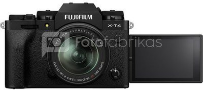 Fujifilm X-T4 + XF 18-55mm juodas