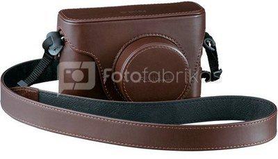 Fujifilm X100S silver + leather case brown