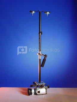 Glidecam filmavimui žemose pozicijose tvirtinimų komplektas