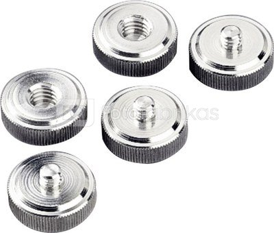 Hama Tripod Conversion Screws 1/4 ->3/8 5pcs 5121