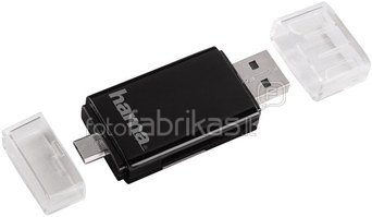 Hama USB 2.0 / OTG Card Reader for Smartphone / Tablet SD/micro