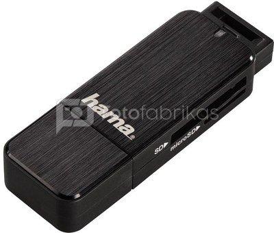 Hama USB 3.0 Multi Card Reader SD/microSD Alu black 123901