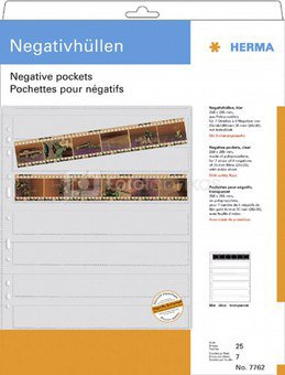 Herma Negative packets PP clear 25 Sheets/6-Strips 7762