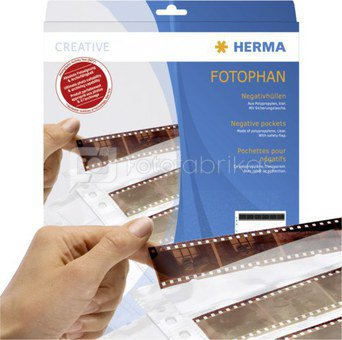 Herma Negative pockets PP clear 100 Sheets/5-Strips 7767