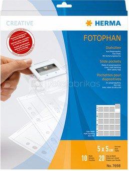 Herma Slide Pockets 5x5 10 sheets clear/matt 7698