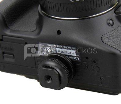 """Caruba hotshoe adapter   Universal hotshoe   > 1/4"""" male schroefdraad (met spacer) black"""