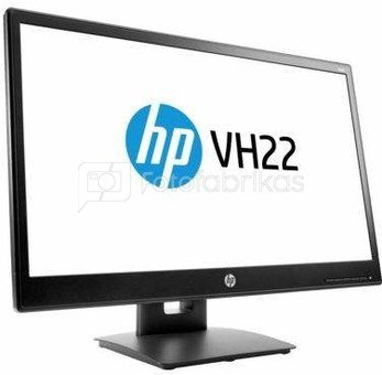 "HP VH22 monitor 21.5"" 1920x1080 170/160 250cd 5ms VGA+DVI+DP Tilt Swivel Pivot Height VESA"