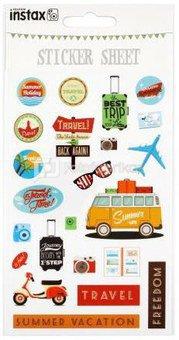 """instax mini stickers """"Travel"""" (22 pcs.)"""