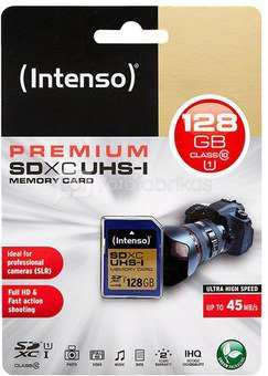 Intenso SDXC Card 128GB Class 10 UHS-I