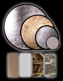 "INTERFIT reflector 42"" (107cm) Silver/Gold INT248"