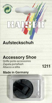 Kaiser Accessory Shoe with lock nut and threaded pin 1211