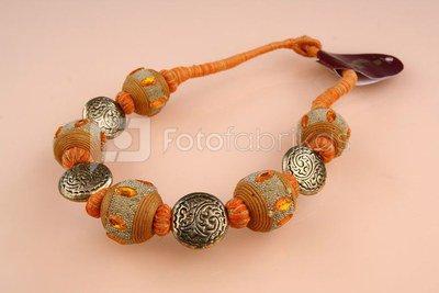 Kaklo papuošalas oranžinis 18035
