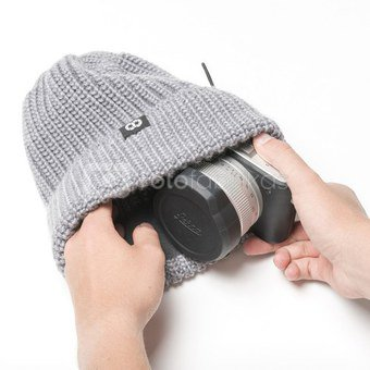 Kepurė-fotomaišelis Cooph Beanie Knit (Pilka)