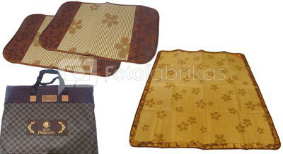 Bamboo mat 194x148 and 2 pcs. covers for cushions (75x47)