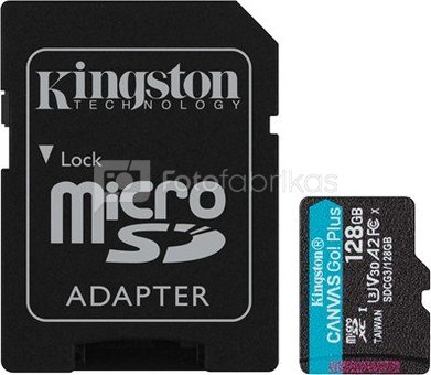 KINGSTON 128GB UHS-I microSD Memory Card with SD Adapter (Class 10)