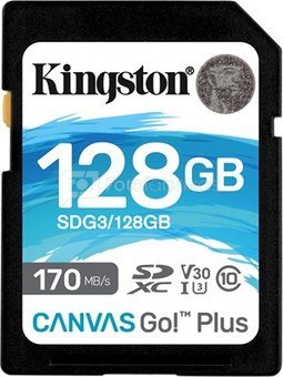 KINGSTON 128GB UHS-I SD Memory Card (Class 10)